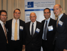 Scott O'Sullivan with 2015 real estate event speakers and moderator